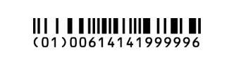 GS1 Databar Barcodes Databar-14 Truncated